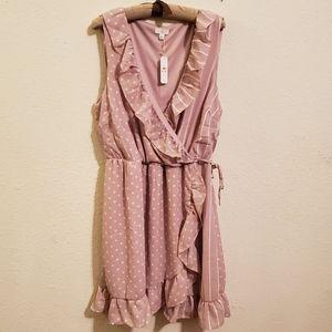 Charming Charlie Pink Sleeveless Printed Dress